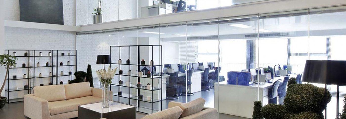 Hình ảnh minh họa văn phòng cho thuê trang bị đầy đủ nội thất