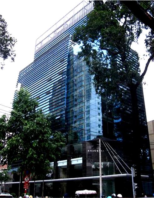 Tòa nhà văn phòng Endovina Tower tọa lạc trên mặt tiền đường Nguyễn Đình Chiểu
